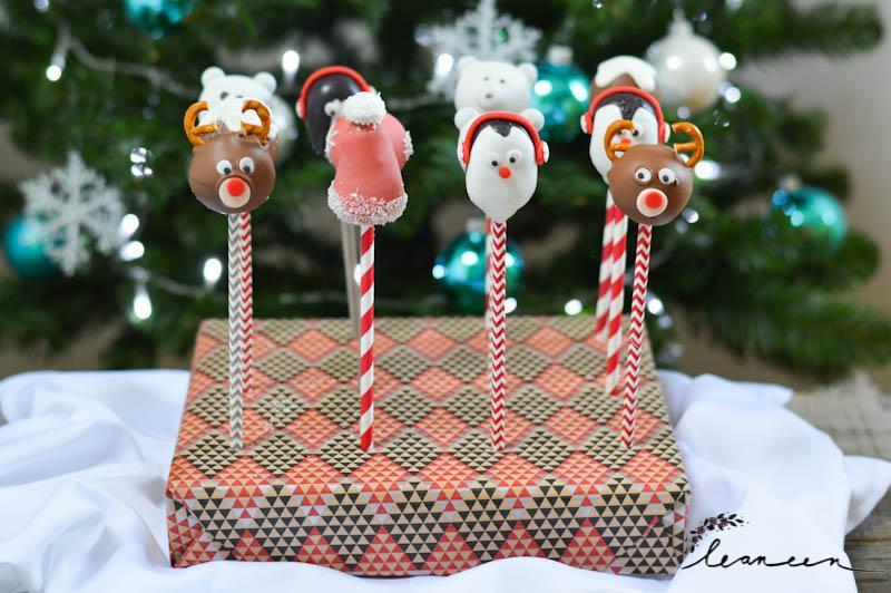 Božični cake popsi