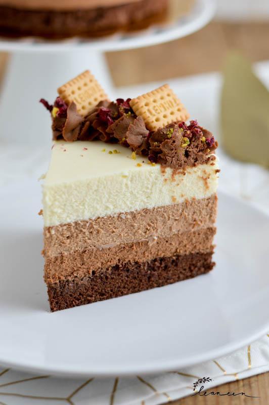 Trojna čokoladna torta