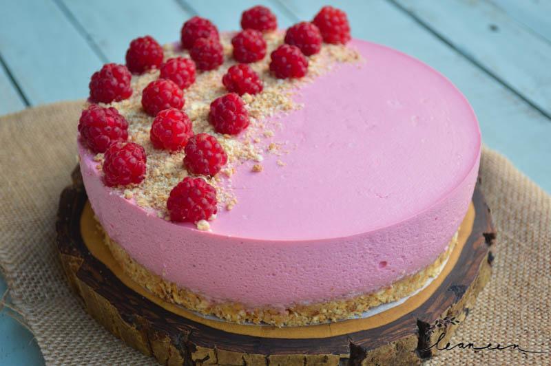 Malinova torta brez peke