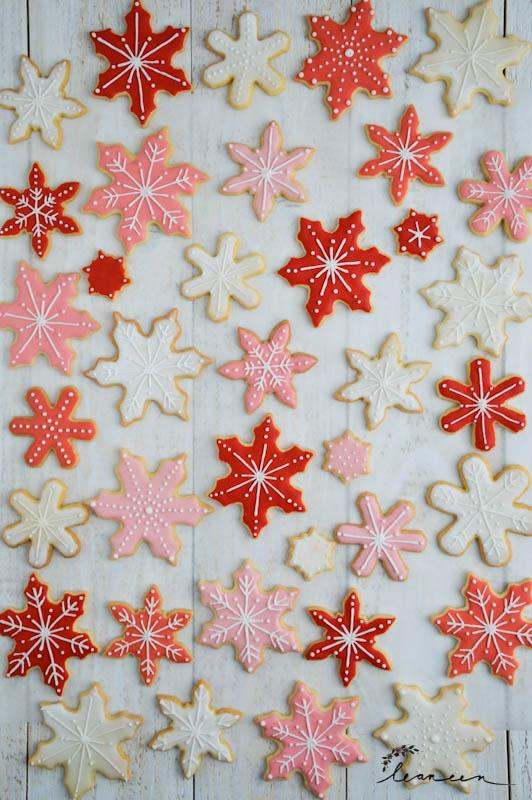 Royal Icing snežinke