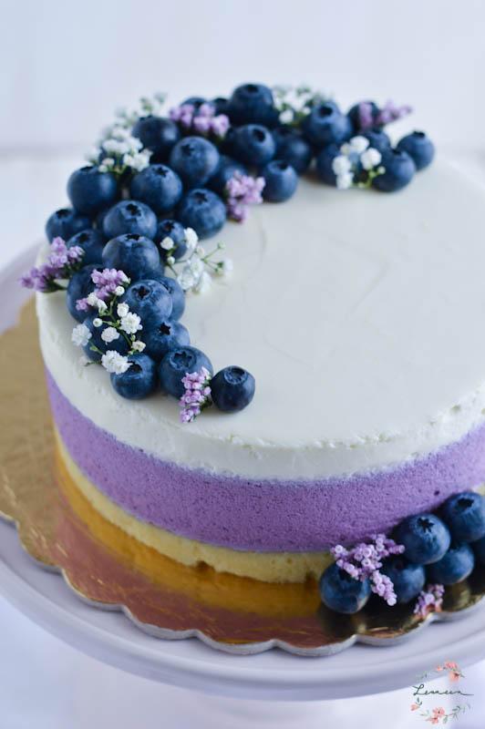 Borovničeva torta z belo čokolado