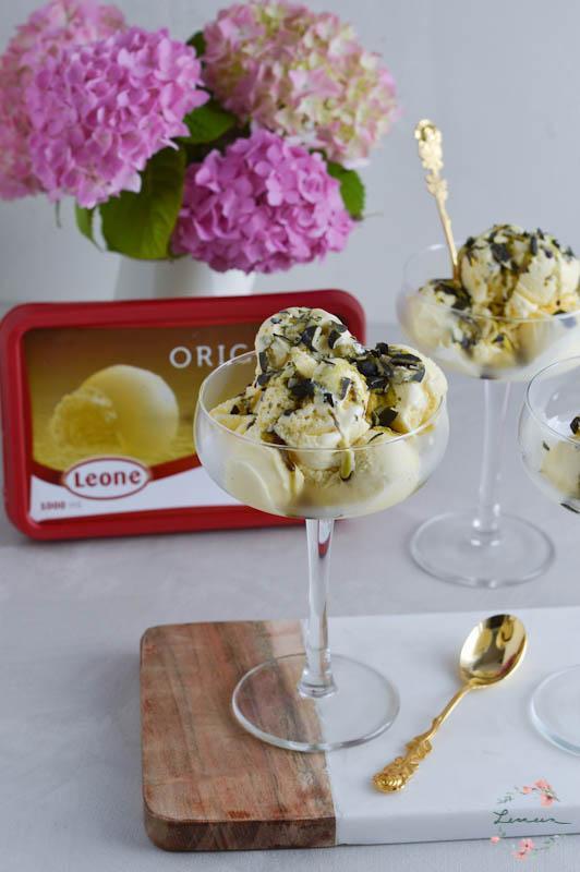 Vanilijev sladoled z bučnim oljem