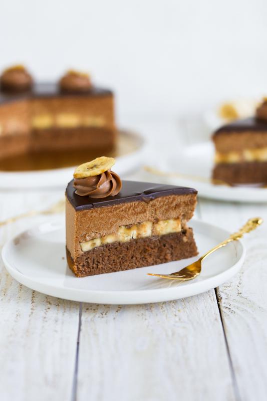 Čokoladna torta z banano