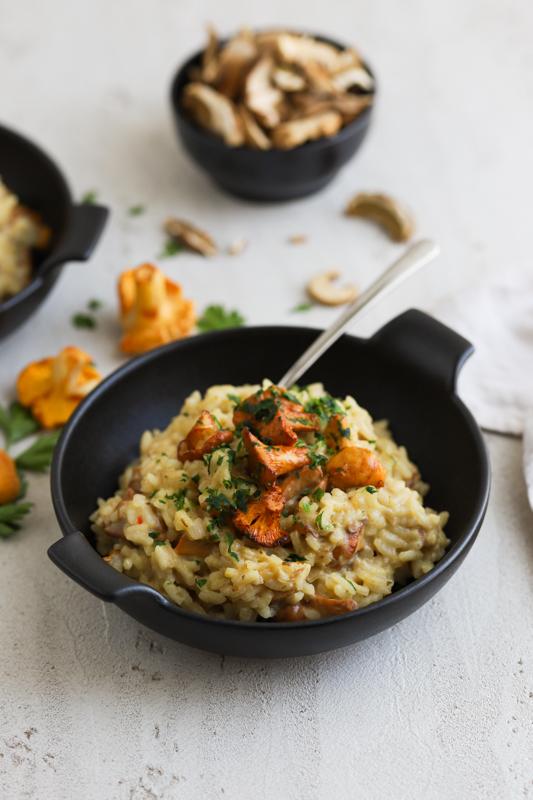 Kremna rižota z lisičkami