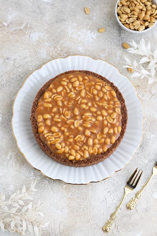 Arašidova pita s karamelo (Snickers pita)