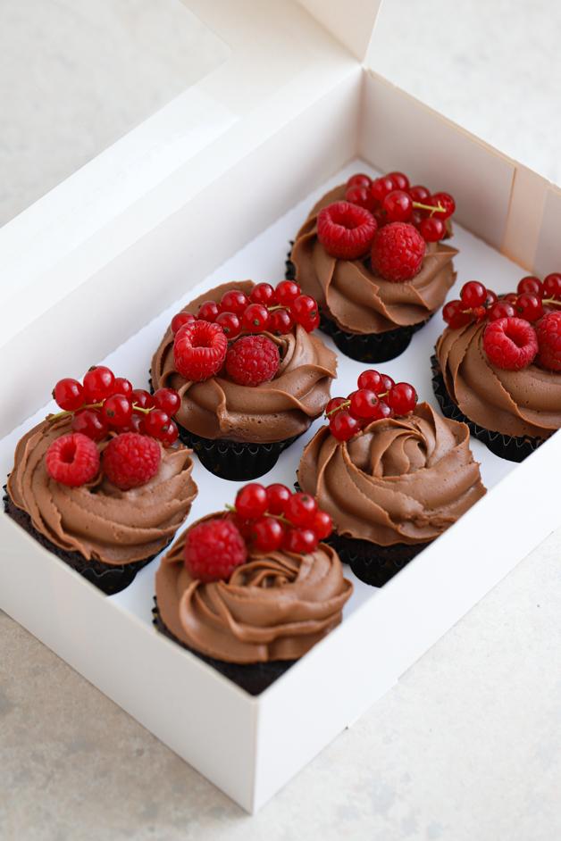 Čokoladni cupcakesi z malinami Leaneen recept